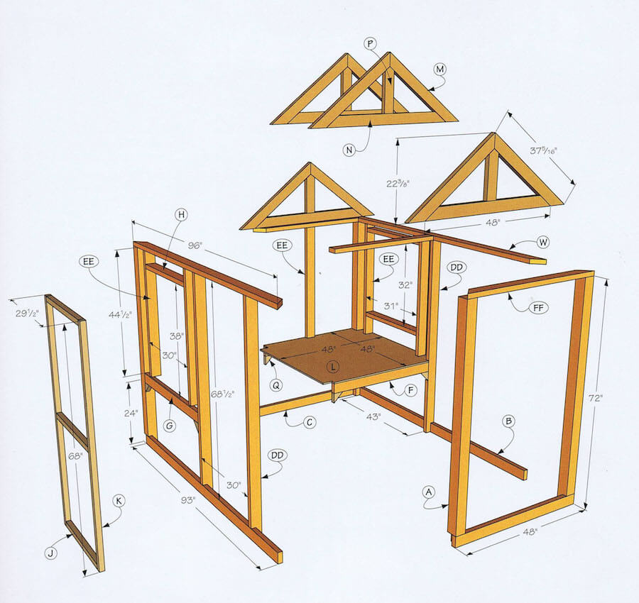 Essential tips to building a chicken coop from blueprints the diy chicken coop tips malvernweather Choice Image